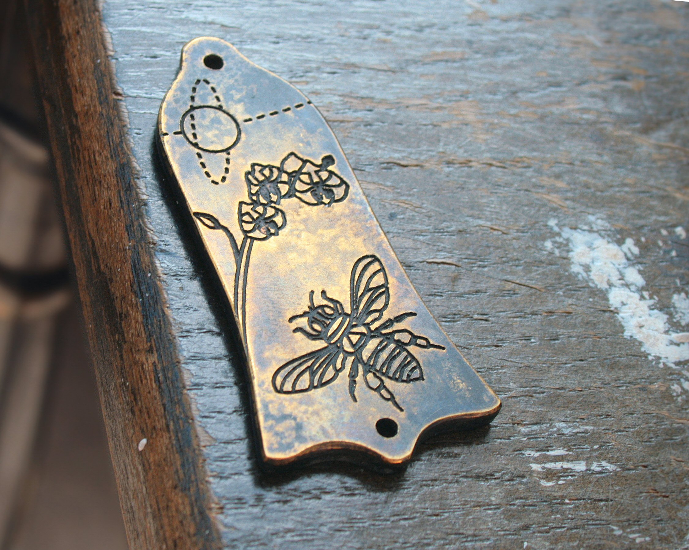 Bee and Orchid truss rod cover